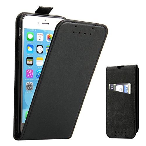 42b8447e0a24cb iPhone 7 Hülle, iPhone 8 Hülle, Supad Leder Tasche für Apple iPhone 7 / 8 4, 7 Zoll Handyhülle Flip Case Schutzhülle Schwarz
